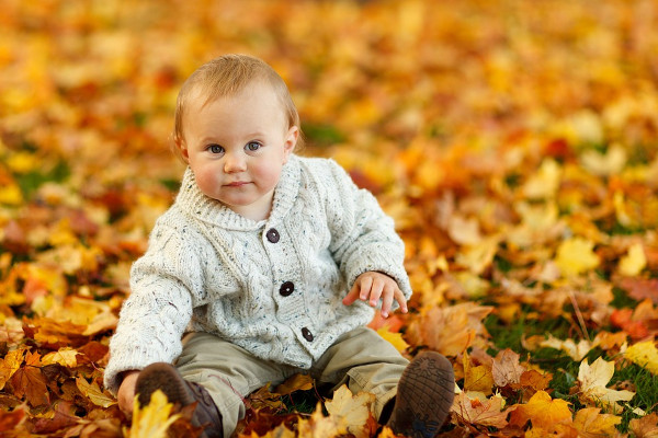 Autumn Fall Baby Photography