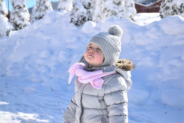 Baby Photography In Snow