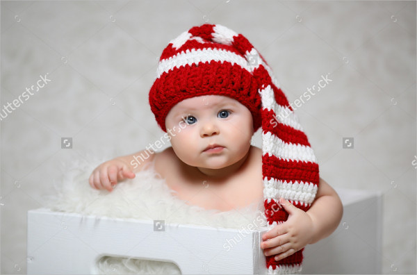 Baby Santa Claus Photography