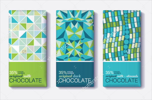 Blue Chocolate Bar Package Design