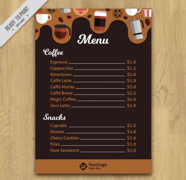 Cafe Menu Template - 27+ Free PSD, AI, EPS, Vector Format Download