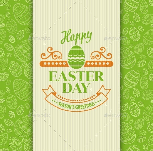 Easter greeting card free psd ai eps vector
