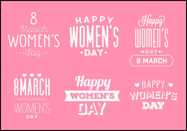 Calligraphy Women's Day Badges