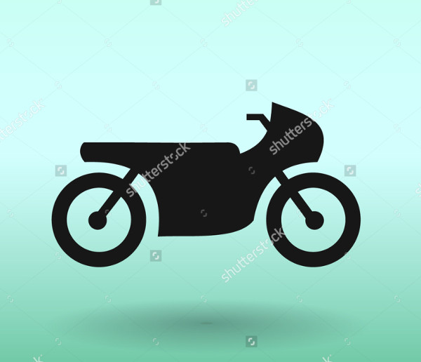 Carbon Motor Cycle Icon