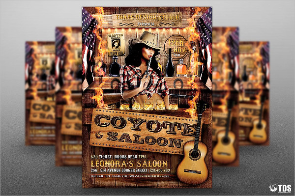 Coyote Bar Flyer Template