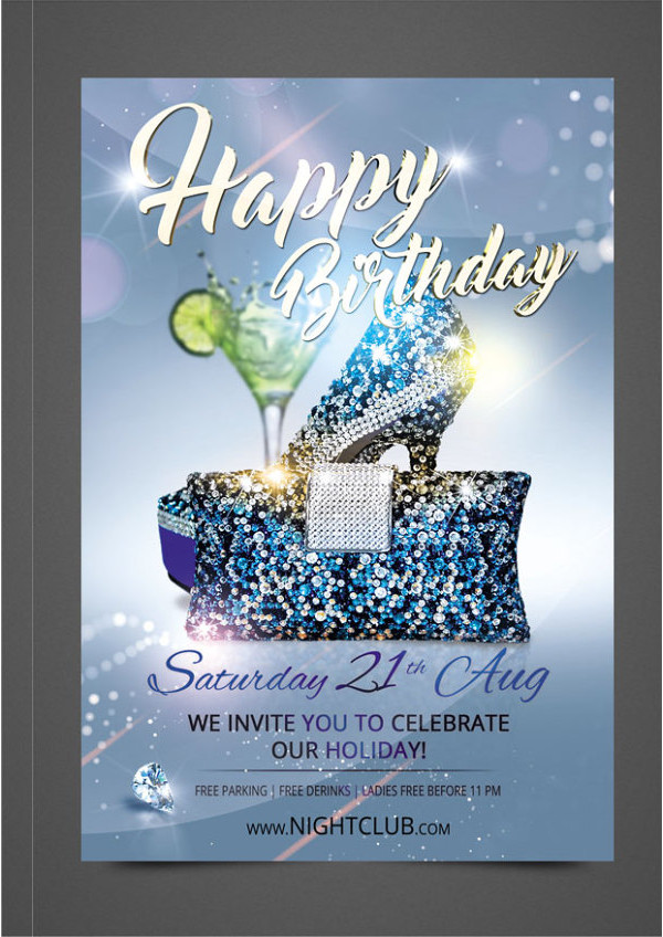 Birthday Flyer Templates  Free Psd Ai Eps Format Download