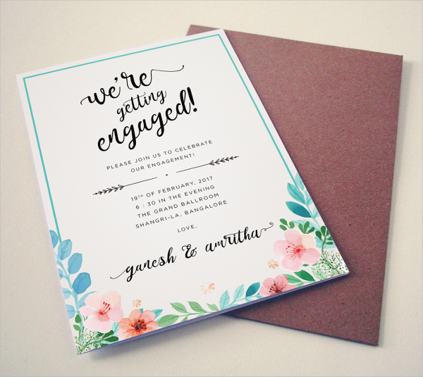 Invitation Card Templates 31 Free PSD AI EPS Vector Format – Engagement Invitation Templates