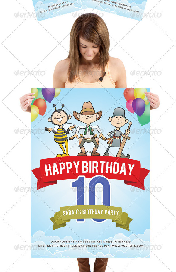 Fancy Birthday Poster Template