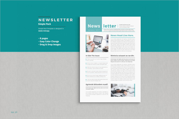 27 business newsletter templates free premium download for Modern newsletter design