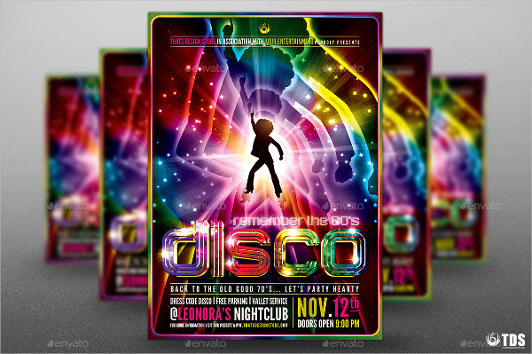 Disco Flyer Template   Free Psd Ai Eps Vector Format Download