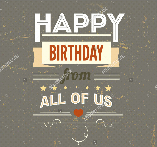 Retro Birthday Poster Template