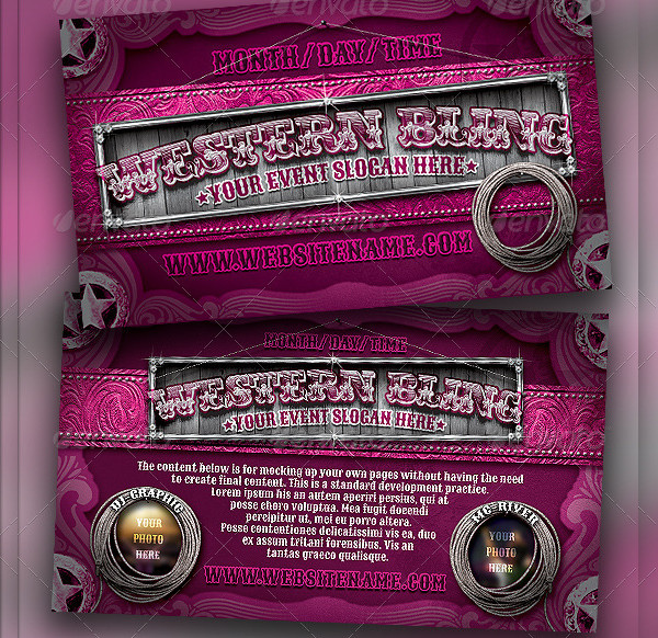 Western Bling Flyer Template