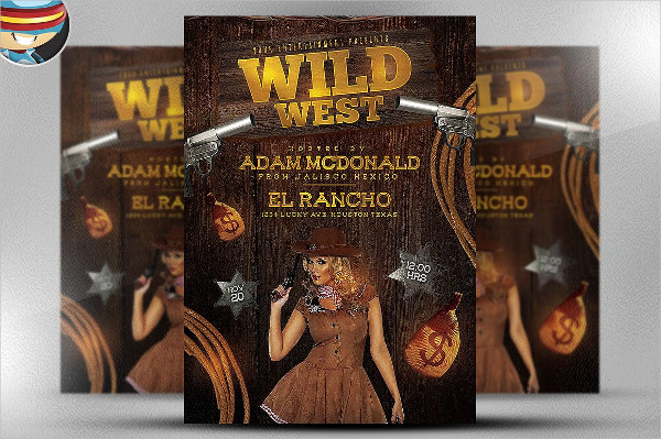 Wild West Flyer Template