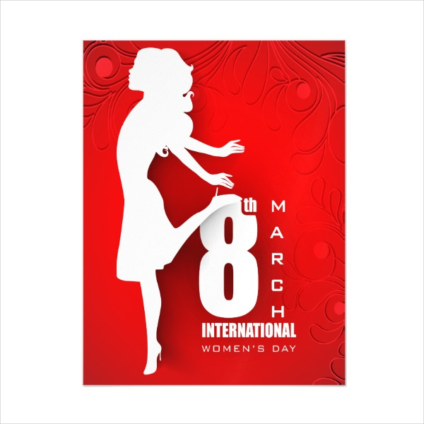 Women's Day Magnetic Invitation ard