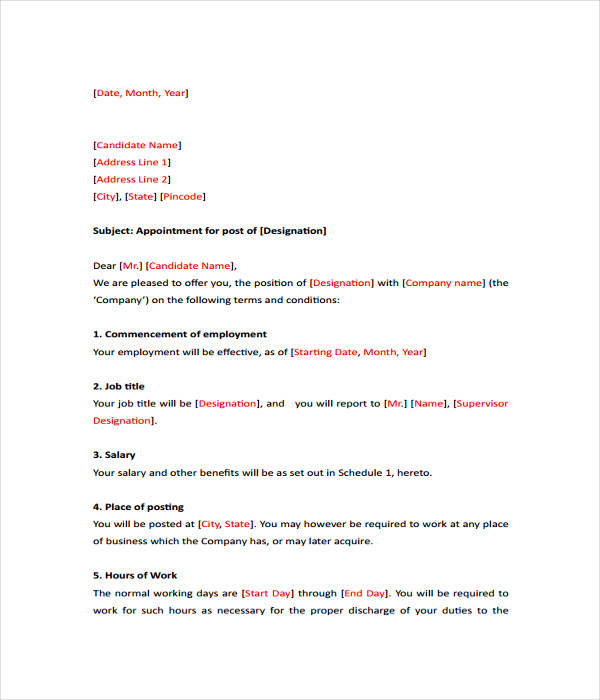 Letter Templates - 17+ Free Word, Pdf Documents Download