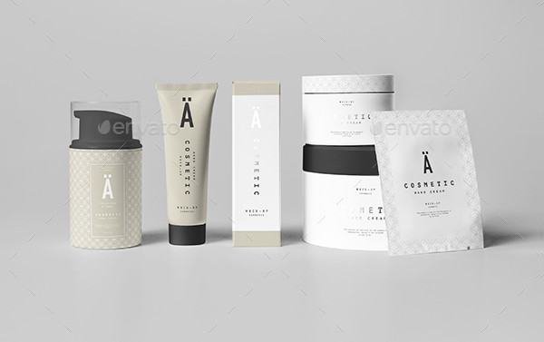 Beautiful Cosmetic Package Mockups