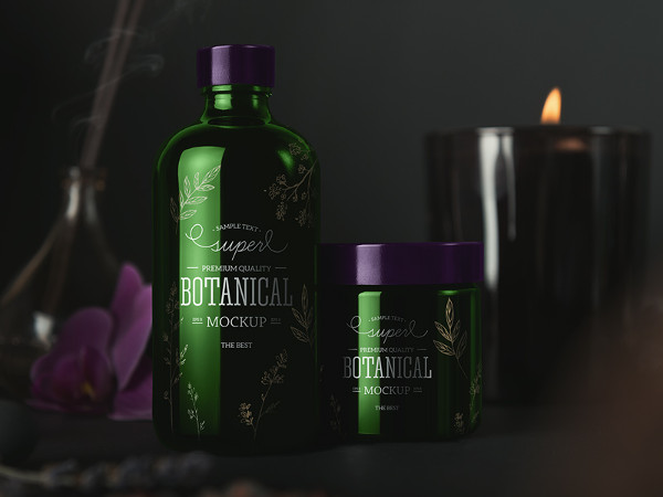 Cosmetic Package Mockups Black Edition