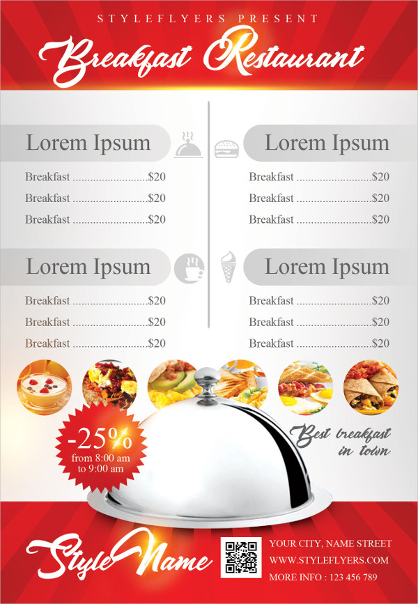 Breakfast Menu Templates 17 Free Psd Ai Eps Vector