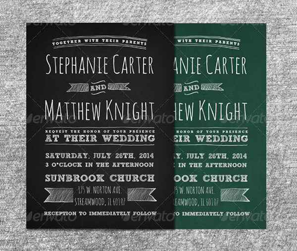 Chalkboard Invitation Template   Free  Premium Download