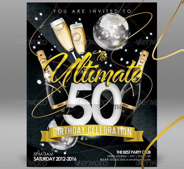 50th Birthday Invitation Templates 21 Free Premium Download – 50th Birthday Invite Template