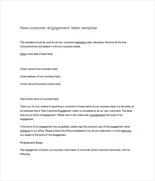 New agreed upon procedures engagement letter cover for Letter of engagement consulting template