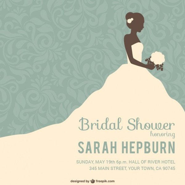 Bridal Shower Invitation Template 23 Free PSD AI EPS Vector