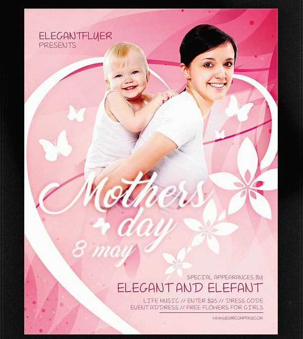 Mothers Day Brunch V2 Flyer Template: Mother's Day Flyer Templates