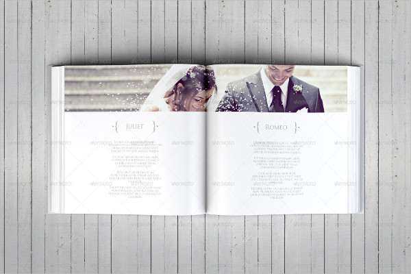 Elegant Square Wedding Photo Album Template
