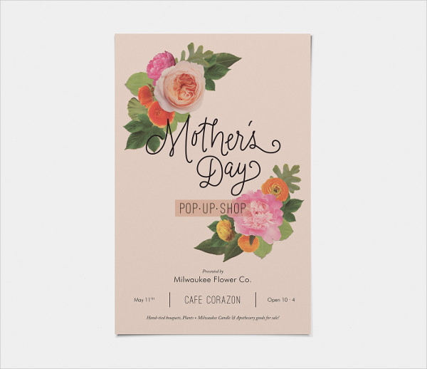 Freebie Mothers Day Flyer Template Design: Mother's Day Flyer Templates