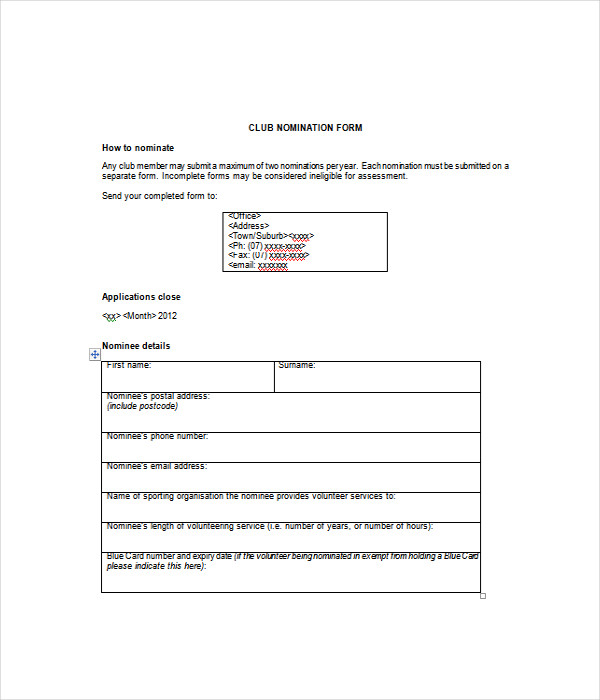 Form Templates 12 Free Word PDF Documents Download – Free Form Templates Download