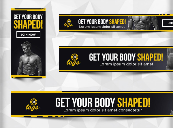 Banner template free psd ai vector format download