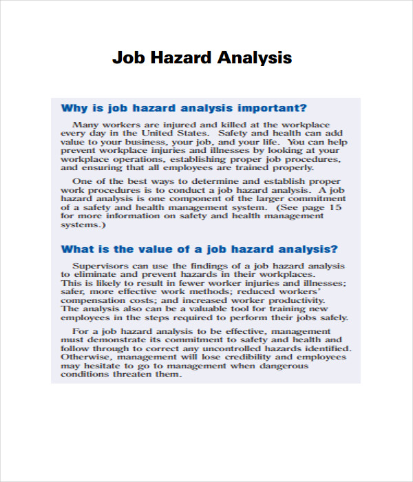 Analysis Templates 21 Free Word PDF Documents Download – Hazard Analysis Template