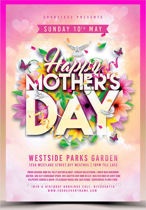 MotherS Day Flyer Templates   Free Psd Ai Eps Format Download