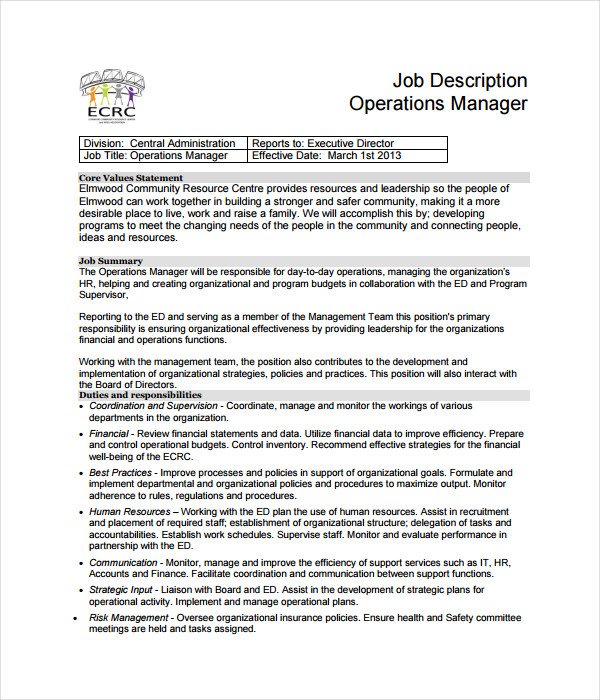 Job Description Templates 21 Free Word PDF Documents Download – Finance Director Job Description