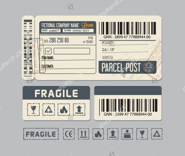 Shipping Label Templates 20 Free PSD AI EPS Vector Format – Packing Label Template