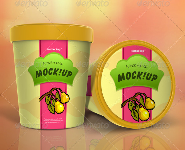 Realistic Ice Cream Packaging Mockups