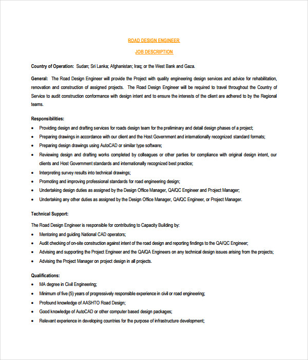Job Description Templates   Free Word Pdf Documents Download