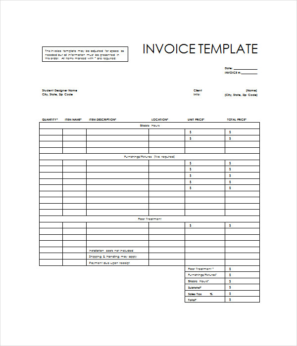invoice templates 15 free word pdf documents download. Black Bedroom Furniture Sets. Home Design Ideas