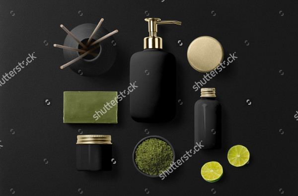 Salon Cosmetic Package Mockups