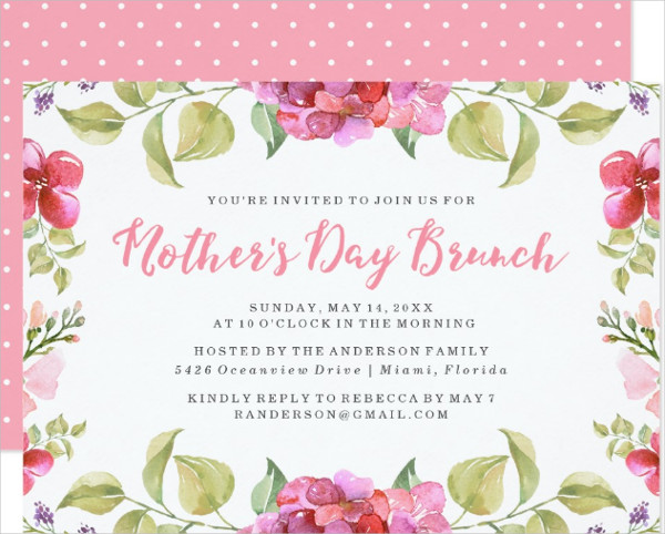 Mothers Day Invitation Templates 17 PSD AI EPS Format Download – Mothers Day Invitation Cards