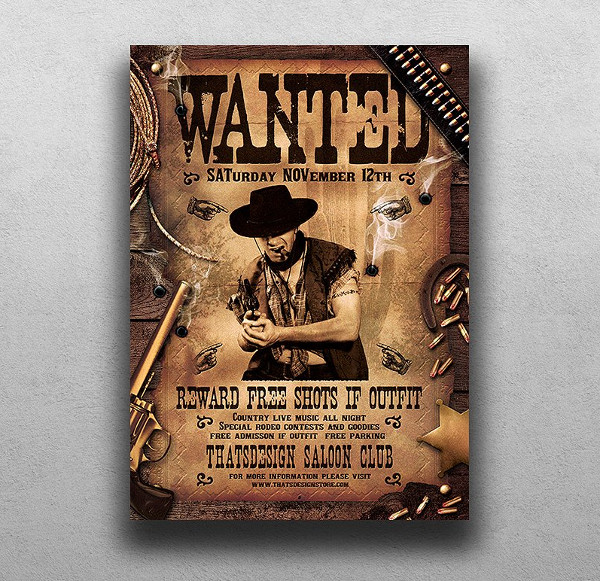 Wanted Posters 19 Free PSD AI EPS Vector Format Download