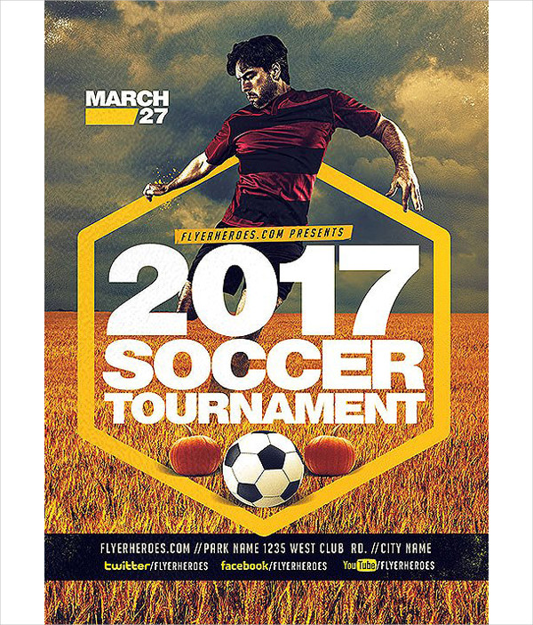 Soccer Cup Flyer Templates   Free Psd Ai Eps Format Download