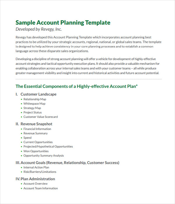 Plan Templates - 21+ Free Word, Pdf Documents Download