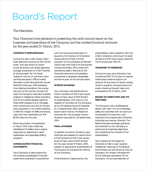 report to the board of directors essay by mary morel director place in board papers