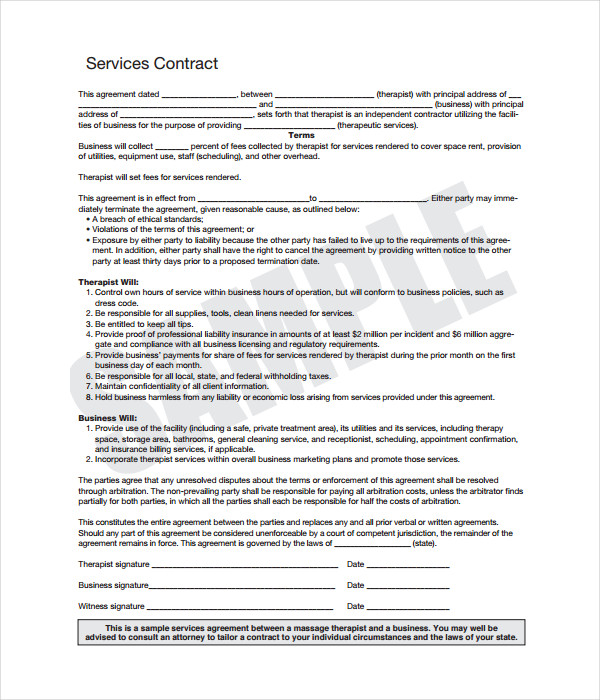 21 contract templates free word pdf documents download contract service template platinumwayz