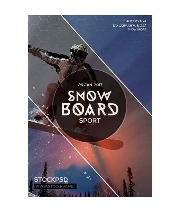 Free Snowboard Ski Sports PSD Flyer
