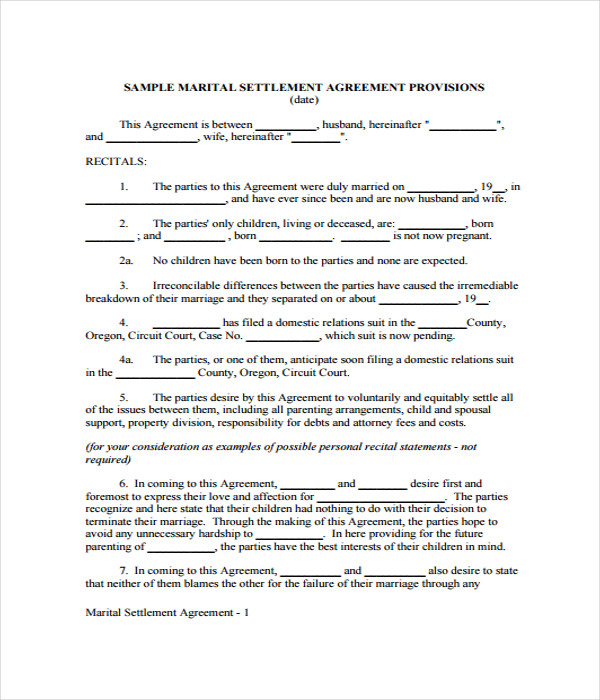 Agreement Templates   Free Word Pdf Documents Download
