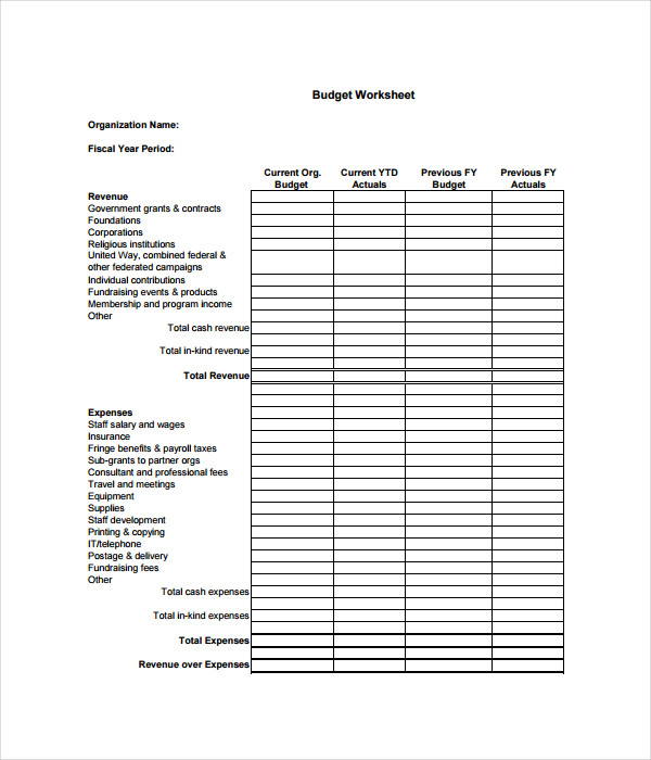 Budget Templates   Free Word Pdf Documents Download