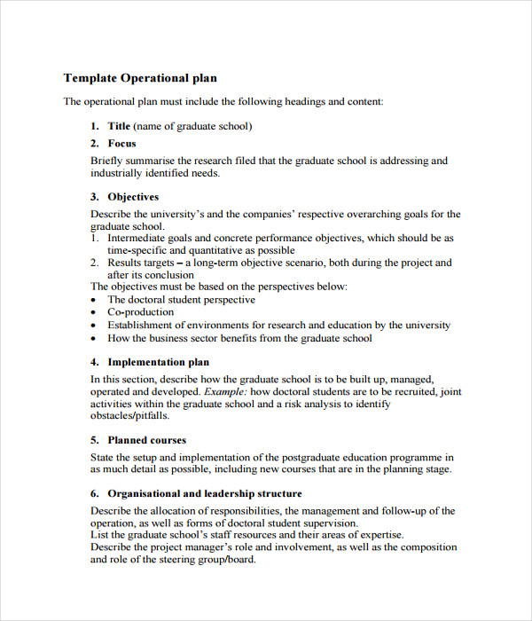 Plan Templates   Free Word Pdf Documents Download