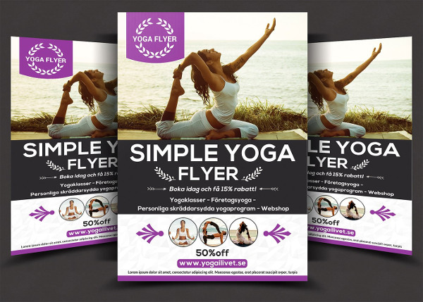 Yoga Flyer Templates   Free Psd Ai Eps Vector Format Download